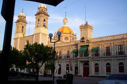 Colima government palace and cathedral