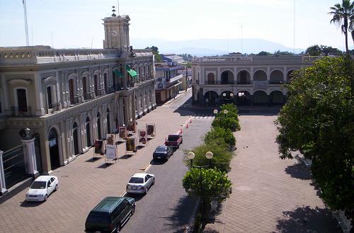 Colima zocalo and museum from Ceballos hotel