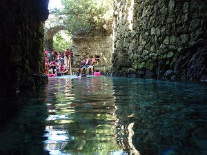 cenote river at Xcaret