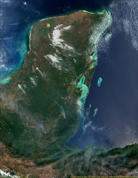 Yucatan Peninsula Satellite View